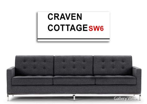 Craven Cottage Map by Craven Cottage Signs Maps Panoramic Panel Canvas Panoramic