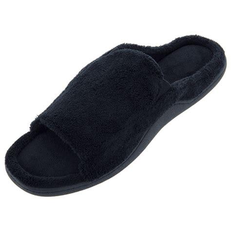 isotoner black slippers isotoner black open toe slippers for
