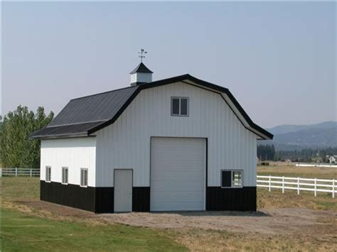 gambrel pole barn steel storage building kits metal roof on gambrel roof