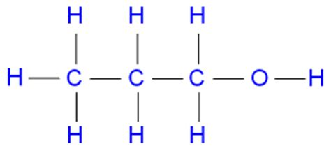 propanol diagram draw a structural formula diagram of a molecule of
