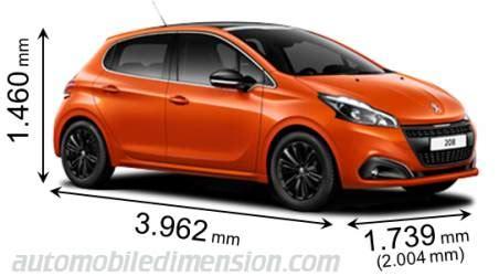 peugeot 106 dimensions dimensions des voitures peugeot longueur x largeur x hauteur