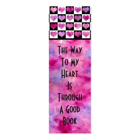 Girly Bookmark Business Card Template   Zazzle
