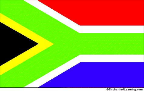 what are the colors of the south flag south africa enchantedlearning