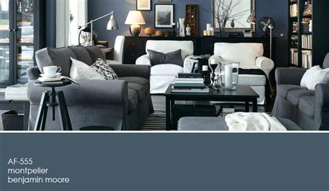a blue gray living room