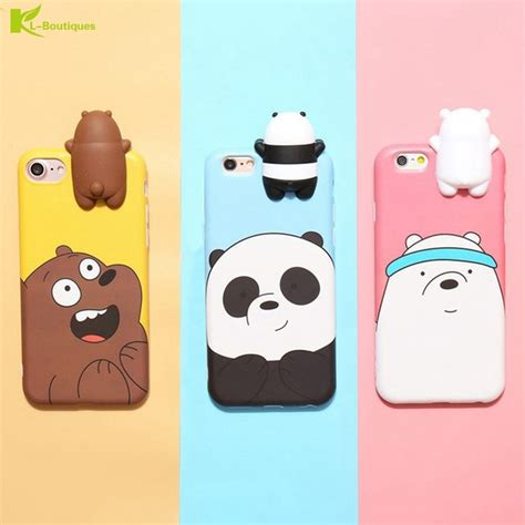 Iphone 6s Plus Remax 3d Relief Model 3 kl boutiques silicon for iphone 6 6s plus 3d three bears panda lying dolls