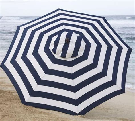 Blue And White Striped Patio Umbrella Blue And White Stripe Market Umbrella