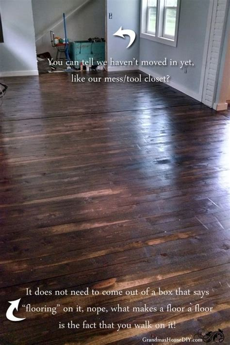 How To Lay A Hardwood Floor by How To Install An Inexpensive Wood Floor That Looks Like