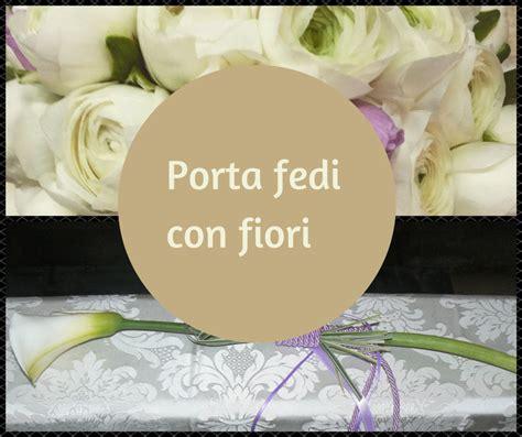 portafedi fiori come realizzare porta fedi con fiori