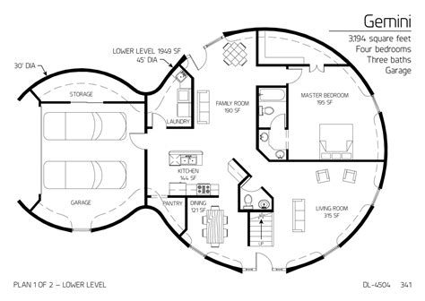 1000 images about house plans on pinterest dome homes floor plan dl 4504 monolithic dome institute