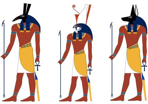 imagenes de figuras egipcias imagen set horus y anubis img 9851