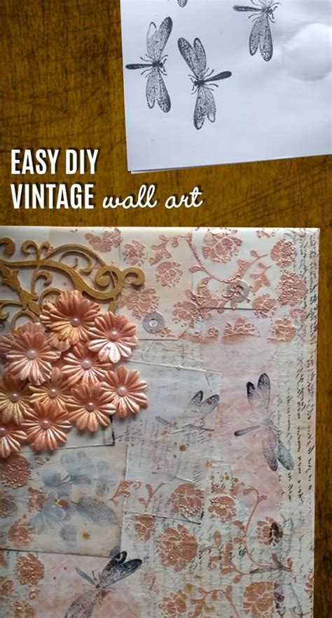 21 diy vintage wall decor ideas the graphics fairy awesome diy wall art ideas diycraftsguru