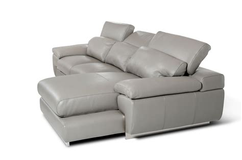 Grey Leather Sectional by Molino Modern Grey Leather Sectional Sofa