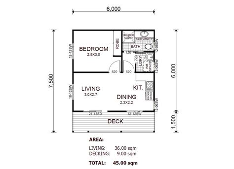 1 bedroom floor plan granny flat kit home designs floor plans
