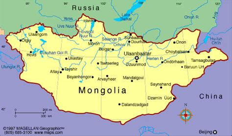 mongolia map mongolia map political regional maps of asia regional political city