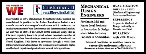 design engineer job in ahmedabad job mechanical design engineers ahmedabad