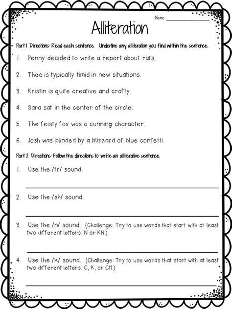 Alliteration Worksheet by Best 25 Alliteration Ideas On
