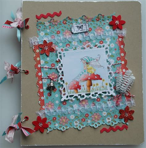 Handmade Scrap Book - ooak handmade toadstool scrapbook photo memory