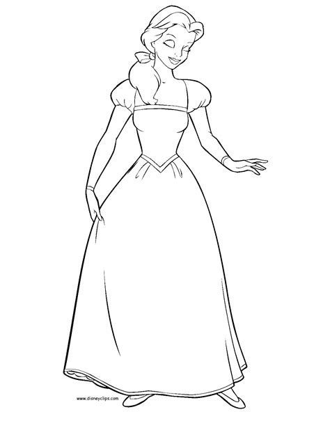 belle dress coloring page beauty and the beast printable coloring pages 2 disney