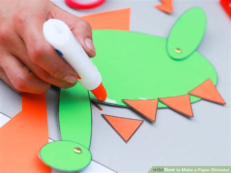 How To Make Paper Dinosaurs - how to make a paper dinosaur with pictures wikihow