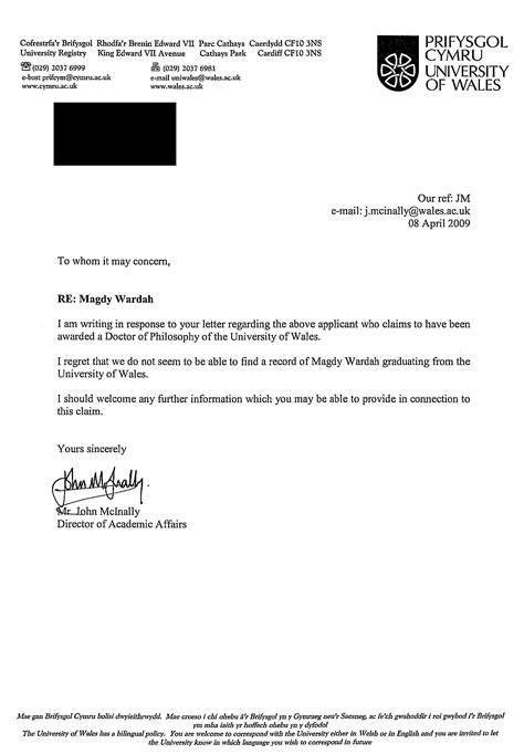 Confirmation Letter Phd Student Stop Majdy Wardah Doctorate Ph D