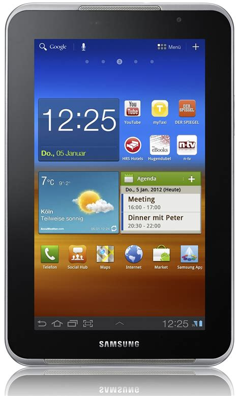 Tablet Samsung Galaxy Tab 7 samsung galaxy tab 7 0 plus n specs and price details
