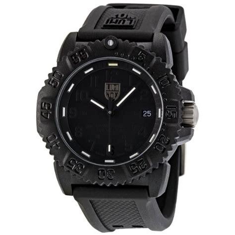 luminox colormark blackout black black rubber
