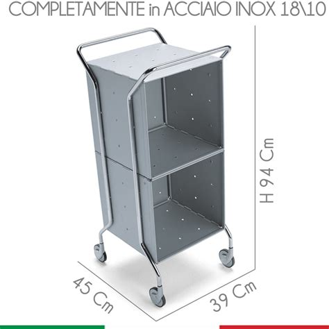 carrello da bagno carrello da bagno cassettiera 39x45xh94 cm con telaio in