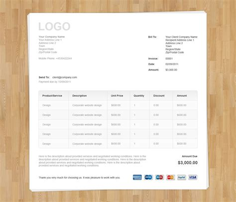 nice invoice template free invoice template