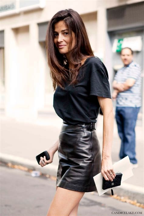 how to style black mini leather skirts the fashion tag