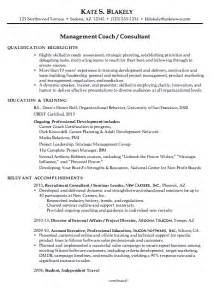 Coaching Resume Example Resume For A Management Coach Or Consultant Susan