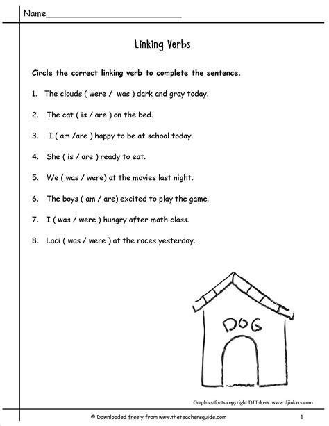 Linking Verbs Worksheet by Wonders Second Grade Unit Four Week One Printouts