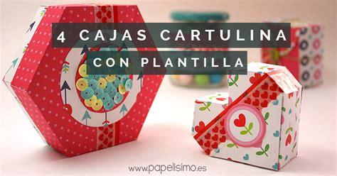 Calendario Cartulina Manualidades 4 Cajas De Cartulina Con Plantilla Coraz 243 N Hex 225 Gono