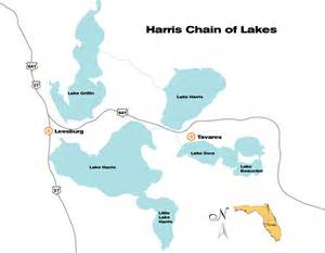 chain of lakes florida map harris chain of lakes one cast away central florida
