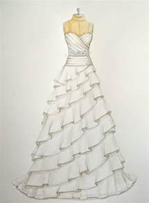 how to draw a dress custom wedding dress illustration sketch on dress form