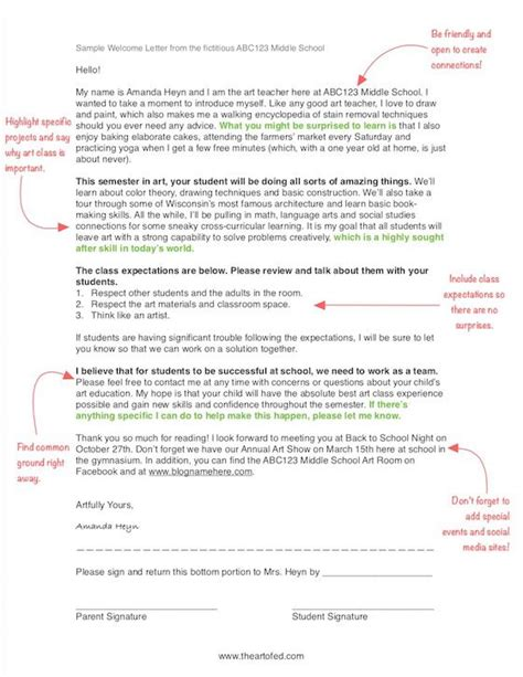 Parent Letter Sles From The 25 Best Introduction Letter Ideas On Letter To Letter To Parents And