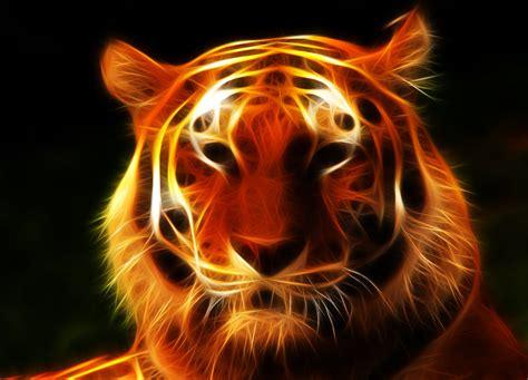Kaos 3d Tiger Neon tiger fractal by jpeiro on deviantart