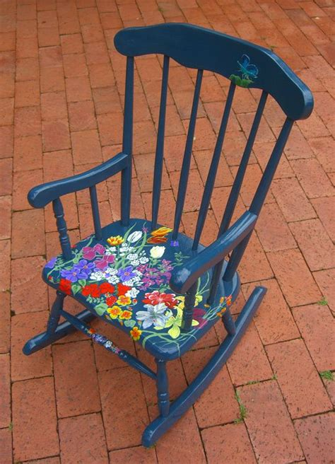 painted chairs images 17 best images about painted rocking chair on pinterest