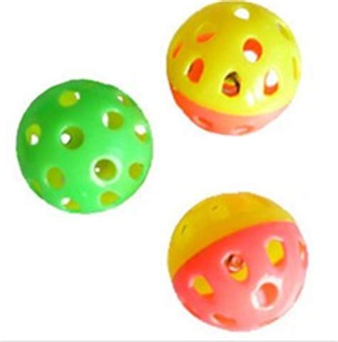Small Balls Top small perforated plastic mouse cat ring petsoo