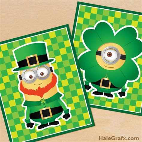 st s day minion pics free printable st s day minion posters