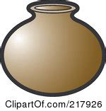 Water Pot Outline by Water Pot Clipart