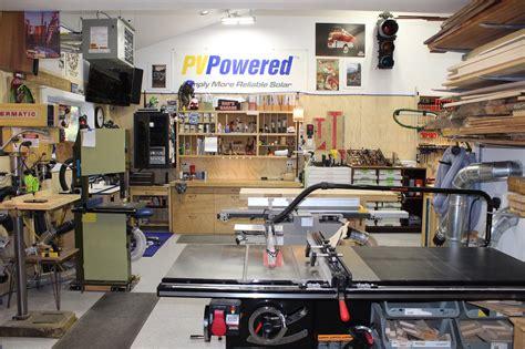 steve s spacious garage woodshop the wood whisperer