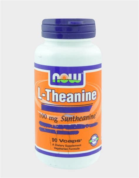 supplement l theanine l theanine by now foods 90 capsules