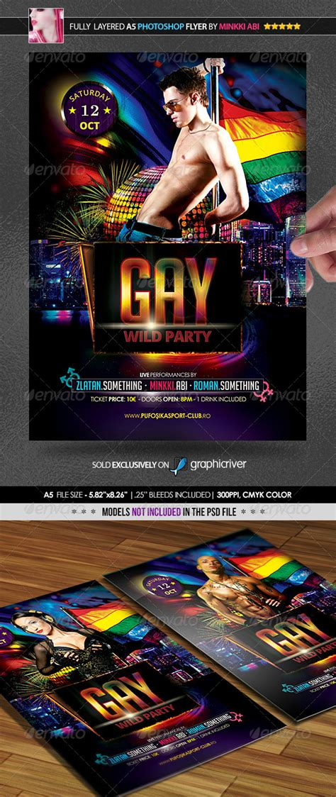 Gay Party Poster/Flyer   GraphicRiver