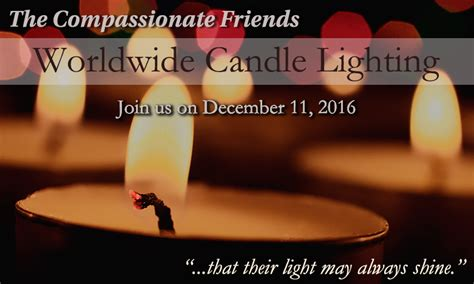 compassionate candle lighting 2016 the compassionate candle lighting