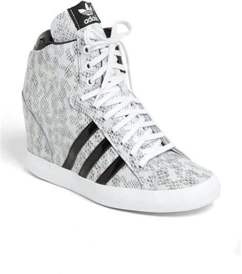 black and white wedge sneakers adidas wedge sneaker in white white black lyst