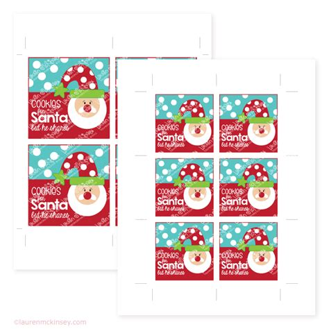 printable address labels from santa jar labels santa is coming to town lauren mckinsey