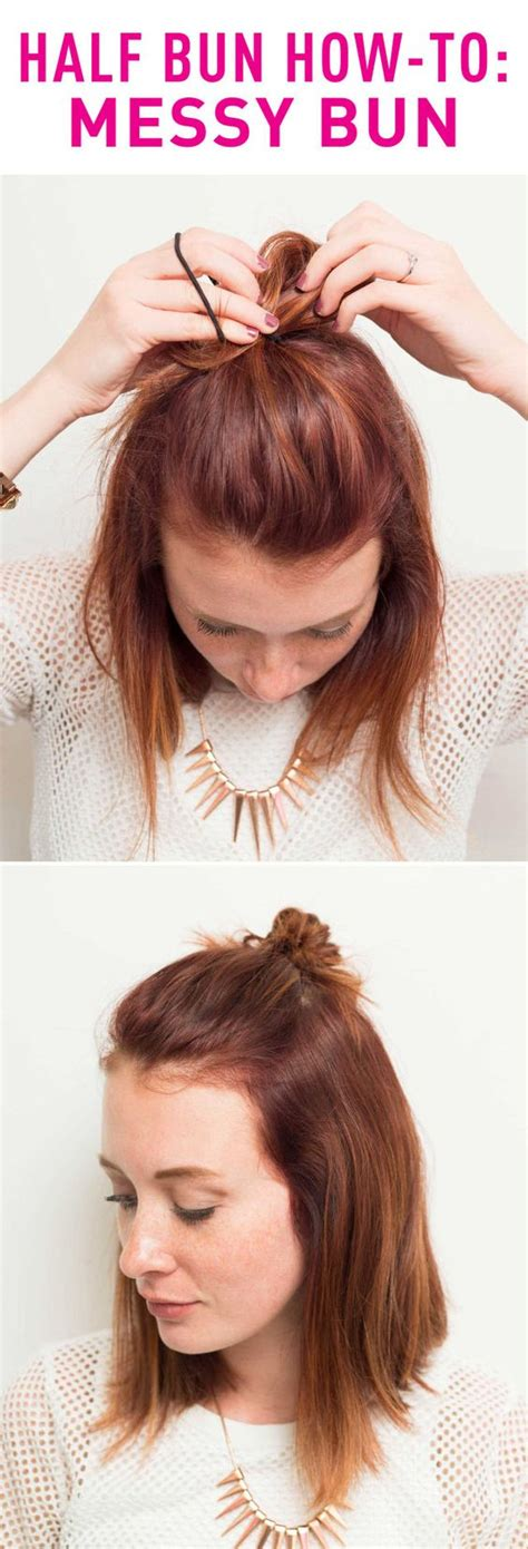 half messy bun 17 tutorials to show you how to make half buns pretty