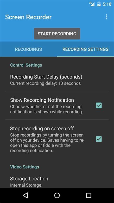 screen recorder android apk lollipop screen recorder 2 1 0 apk android media apps