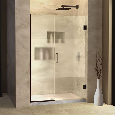 52 Inch Shower Door Dreamline Shdr 245207210 Hfr 06 Unidoor Plus Hinged Half Frosted Glass Shower Door 52 Inch 52