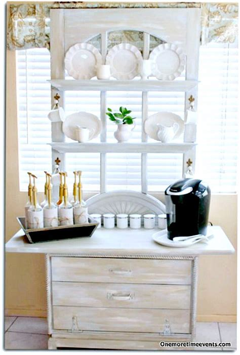 Repurposed Home Decorating Ideas by Hometalk Coffee Station Made From Repurposed Screen Door